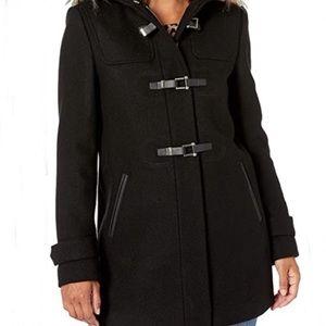 Women's black wool peacoat size Large